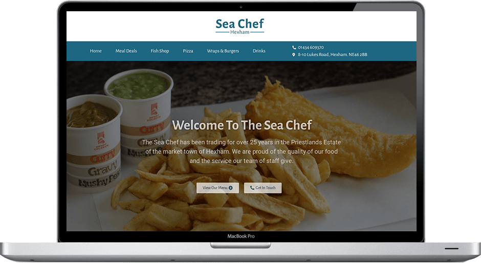 Northumberland Web Design Sea Chef
