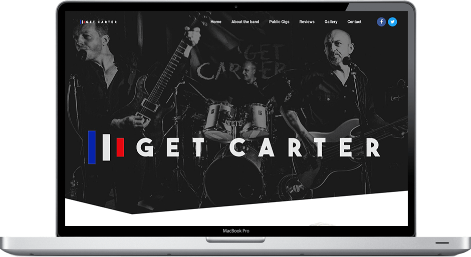 Get Carter Band Responsive web design